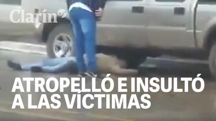 Atropelló, mató y así se bajó de su camioneta para insultar a la víctimas