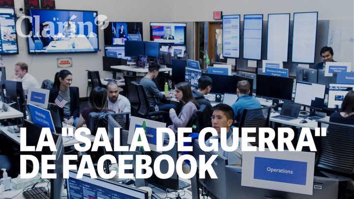 """Cómo es la """"sala de guerra"""" que creó Facebook para combatir la manipulación electoral"""