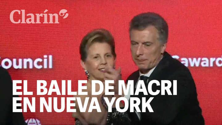 Así fue el baile de Macri con la anfitriona del Global Citizen Award en Nueva York