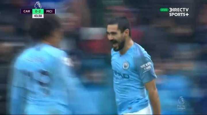 Gündogan marcó el 3 a 0 para los Ciudadanos