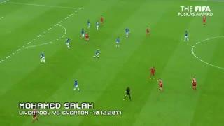 El gol de Salah al Everton que es candidato al Premio Puskas.