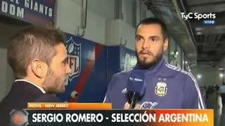 Romero habló de sus amigos y aseguró que volverán a la Selección