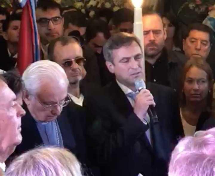 Ramón Mestre en el funeral de José Manuel de la Sota