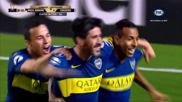 Pablo Pérez convirtió el segundo con un gran tiro