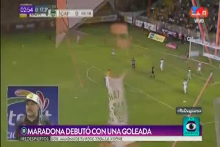 Los goles del triunfo de Dorados de Sinaloa ante Cafetaleros, en el debut de Diego Maradona.