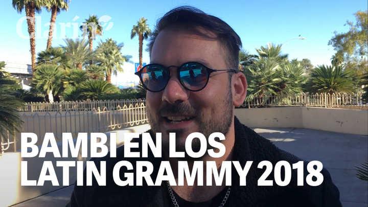 Bambi cuenta desde Las Vegas cómo vive la previa de la entrega de los Latin Grammy 2018