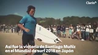 Así fue la victoria de Santiago Muñiz en el Mundial de surf 2018