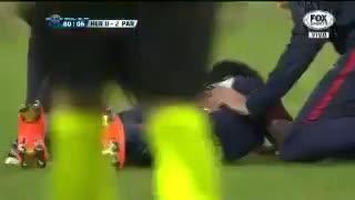 Así fue la lesión de Dani Alves. (YouTube)