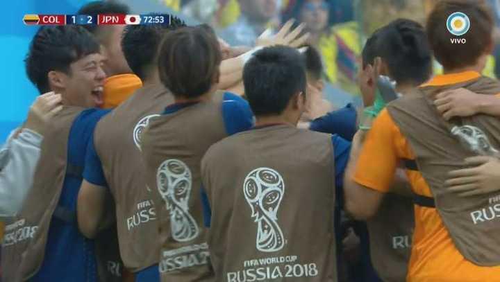 Colombia 1 - Japón 2