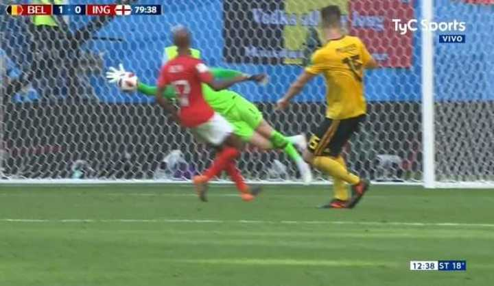 Pickford se quedó con el segundo de Bélgica - Mundial Rusia 2018