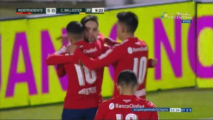 Independiente 5 - Central Ballester 0