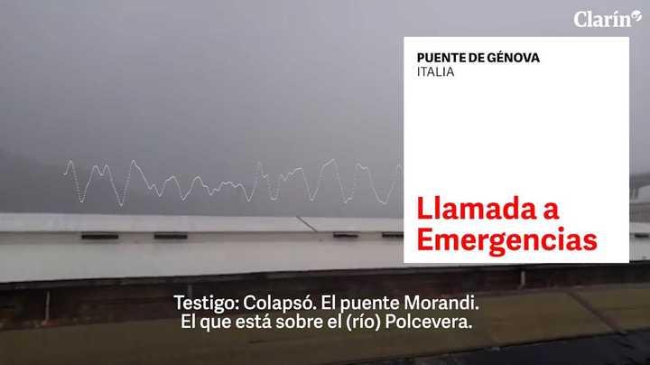 Génova: llama a emergencias para avisar que el puente cayó y el operador no lo puede creer
