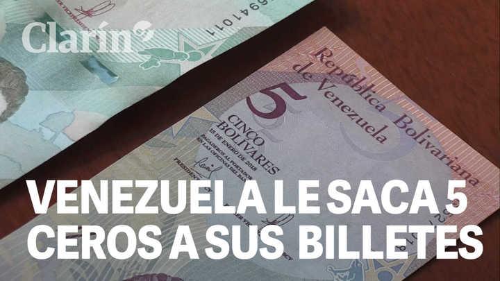 Así son los nuevos billetes de Venezuela