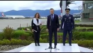 Mauricio Macri y su referencia futbolera al llegar a Colombia