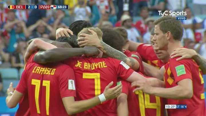 Bélgica 2 - Panamá 0