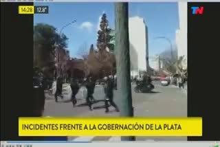 Incidentes en una marcha de los trabajadores del Astillero Río Santiago