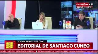 Editorial de Cúneo pide levantamiento