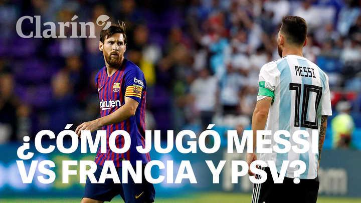 Messi y sus números vs Francia y PSV
