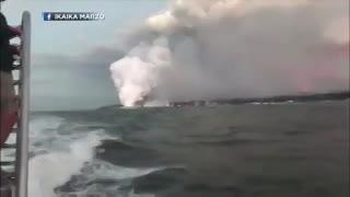 Bombas de lava en Hawaii. (Fuente: Twitter)