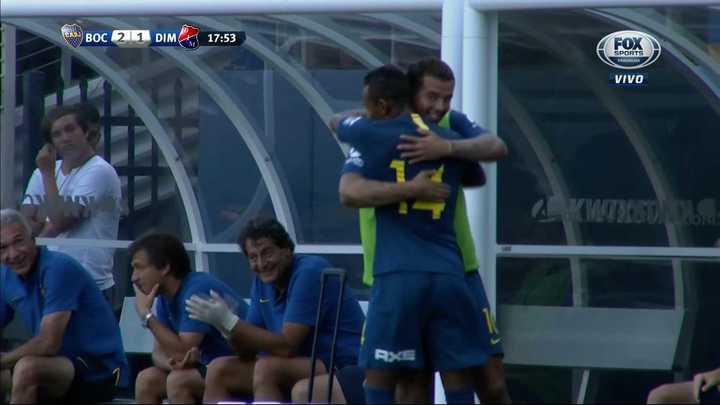 Boca 2 - Independiente de Medellín 1. Villa empató el partido - Amistoso 2018