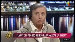 El cruce entre Martha Pelloni y Nancy Pazos en el debate sobre el aborto