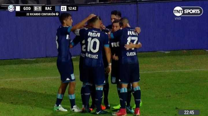 Godoy Cruz 0 - Racing 1