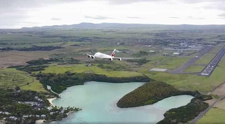 El dron que puso en riesgo al avión de pasajeros más grande del mundo