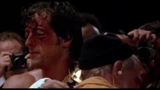 "La canción ""Eye of The Tiger"" en Rocky III. 