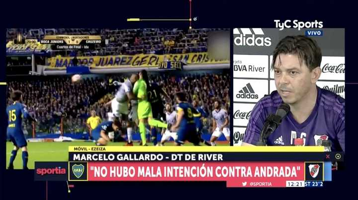 "Marcelo Gallardo: ""El choque me pareció que fue accidental"""