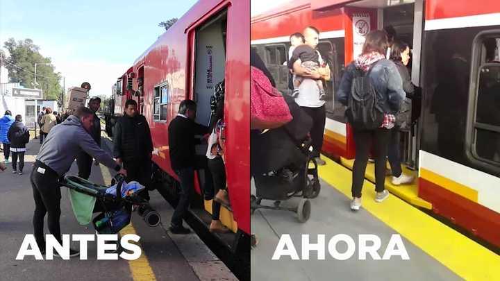 Así quedaron los andenes del tren Belgrano Norte.