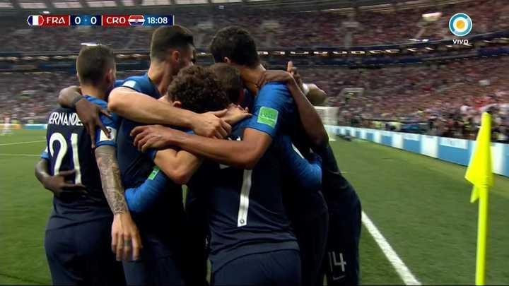Francia 1 - Croacia 0 - Mandzukic la metió en contra - Mundial Rusia 2018