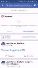 La función oculta para hinchar por Argentina en Facebook
