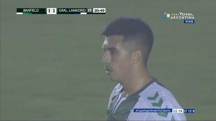 Banfield 1 - General Lamadrid 1. Gol en contra y empate de Lamadrid - Copa Argentina