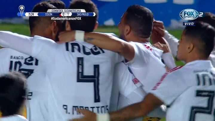 San Pablo le gana 1 a 0 a Colón con gol de Liziero