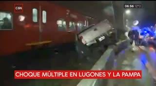 Choque múltiple en la avenida Lugones