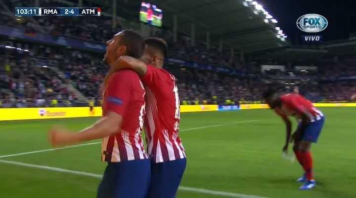 Koke puso el 4 a 2 del Atlético de Madrid frente al Real Madrid