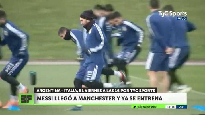 Messi entrenó con la Selección