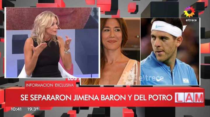 Yanina Latorre y la separación de Barón y Del Potro