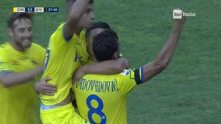 Chievo Verona lo empató con gol de Stepinski