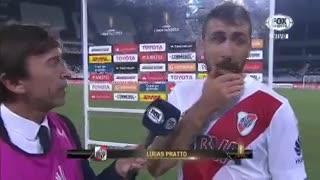 Lucas Pratto cuenta una anécdota con Diego Alves, el arquero de Flamengo. (Fox Sports)