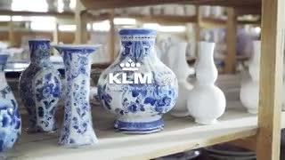 KLM y su video de seguridad sobre azulejos de Delft.