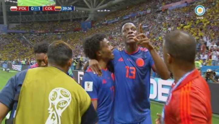 Polonia 0 - Colombia 1 - Mina marcó el primer gol de Colombia - Mundial Rusia 2018