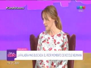 Nicole Neumann explotó contra Fabián Cubero y se quebró en vivo.