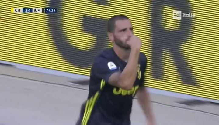 Juventus se puso 2 a 2 con gol de Bonucci