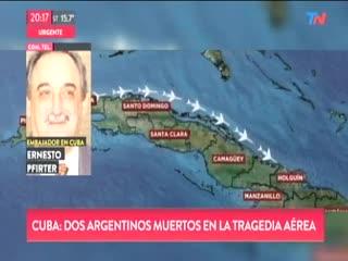 Dos argentinos muertos en la tragedia en Cuba