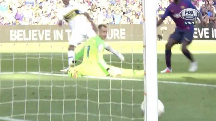 El palo le negó a Boca el primer gol