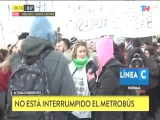 Manifestación en la 9 de Julio