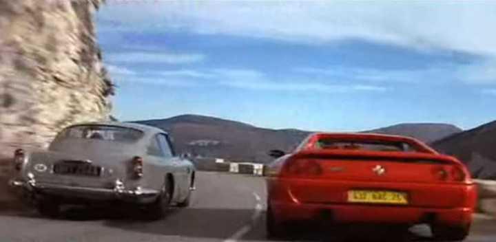 Aston Martin DB5 vs. Ferrari F355 (James Bond Goldeneye)