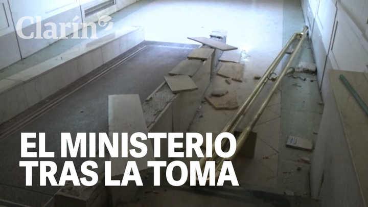 Así quedó el Ministerio de Economía bonaerense tras la toma