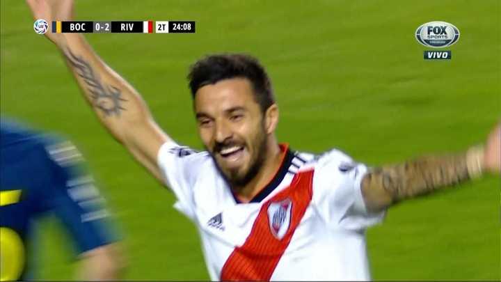 Ignacio Scocco convirtió el segundo para River